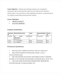 Bcom Fresher Resume Template With Sample To Produce Perfect Examples For Teachers Pdf