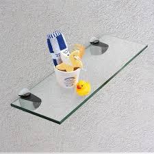 20x10cm glas regal halterung glasregal glasboden wandregal badregal bad ablage