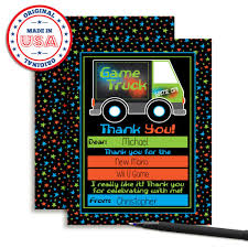 100 Truck From Gamer Amazoncom Game Video Themed Thank You Notes For Kids