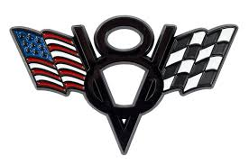 100 Ford Truck Logo Mustang American Checkered Flags V8 Black Fender Trunk Emblem