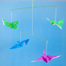 Origami Flying Bird Mobile
