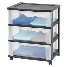 Plastic Drawers On Wheels by 3 Drawer Storage Cart With Wheels Black At Home At Home
