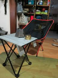 Timber Ridge Camping Chair With Table by Diy Camping Table Support From A Broken Folding Chair Youtube
