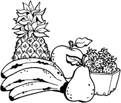 Fruit Coloring Pages Printables