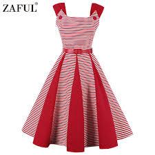 online get cheap red striped rockabilly dress aliexpress com