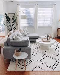 skandinavische ideen graues wohnzimmer gemütliche