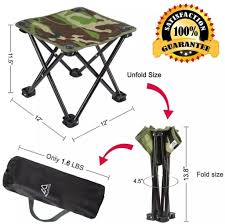 Mini Portable Folding Stool,Folding Camping Stool,Outdoor Folding Chair  Slacker Chair For BBQ,Camping,Fishing,Travel,Hiking,Garden,Beach, Quality  ...