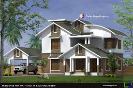 Pitched Roof House Designs Photo by Modern Sloped Roof Kerala Home Design In 2444 Sqft By Nishar