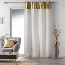 vorhang 140 x 240 cm luxury weiß und gold
