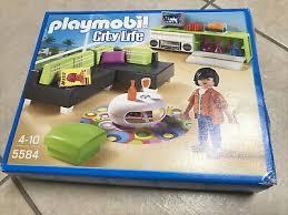playmobil city set 5584 modernes wohnzimmer mt ovp r