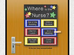 school nurse gift nursing decor office door nursing gift