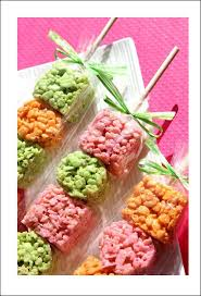 Rice Krispie Treats Halloween Theme by Rice Krispies On A Stick Add Food Coloring To The Marshmallows To