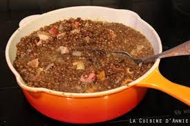 cuisine des lentilles recette lentilles à la dijonnaise la cuisine familiale un plat