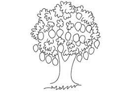mango tree clipart black and white