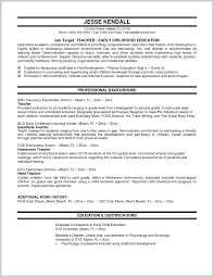 Elementary Teacher Resume Examples 2013 2