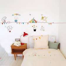 frise murale chambre fille sticker cirque mimilou sticker mural chambre enfant