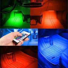 100 Interior Truck Lighting Car LED Light Bulbs LED Remote Music Control RGB