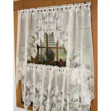 Walmart Brown Kitchen Curtains by Curtains Impressive Brown Wall And White Curtain Lace Curtains