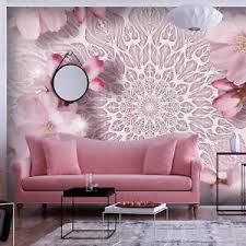 details zu vlies fototapete mandala blumen tapete wandbild wohnzimmer ornament 3d optik
