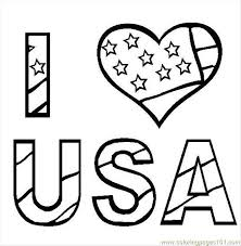 I Love Usa Coloring Page