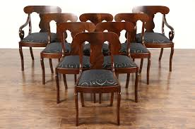 SOLD - Set Of 8 Empire 1930 Vintage Dining Chairs, Cherry & Mahogany ... New Retro Ding Chair Fniture Tables Chairs On Carousell Cheap Diner Find Deals Line At Baxton Studio Zachary Chic French Vintage Set Of 2 1960s 6 Danish Rosewood Aluk High Stosfolding Chairs Hand Leisure Pack Grey Robert Dyas Tan Wing Back Lori Kitchen Dinette White Walnut Wood 4 Vintage Ding 100580 Vintage Ding Chair Black Red