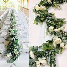 Excited To Share The Latest Addition My Etsy Shop Wedding Garland Eucalyptus Backdrop Boho Decor Silk Flower