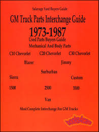 Parts Manual Chevrolet GMC Truck Interchange Pickup Chevy GM 73-87 ... Gm Wiring Diagrams 97 Tahoe Everything About Diagram Parts Manual Chevrolet Gmc Truck Interchange Pickup Chevy Gm 7387 1988 Gmc 5 7 Engine Best Electrical Circuit 1997 Sierra Library 2008 The Car Top 2001 Ev71 Documentaries For Change 1999 Jimmy Trusted Hnc Medium And Heavy Duty Online Bendix Air Brake Rv 1979 1500 1970