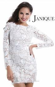 short white lace long sleeve dress