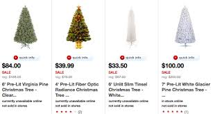 Target 50 Off Christmas Trees Today Only 35 Pre Lit