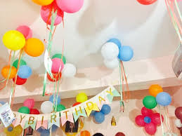 Colorful Balloon Ceiling Decoration Home Decorations For Birthday Party Ideas