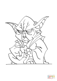 Click The Yoda Coloring Pages To View Printable Version Or Color It Online Compatible With IPad And Android Tablets