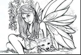 Spectacular Adult Fairies Coloring Pages Printable Fairy Adults Disney Tale Realistic For Full Size