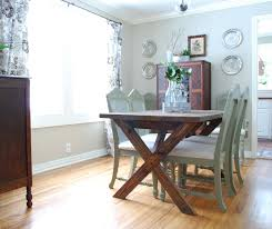Picnic Table Style Dining Room With Free Chair Plans