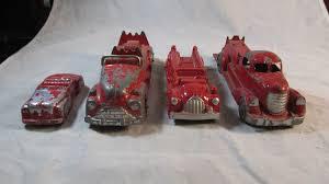 100 Vintage Trucks Lot Of 4 Aluminum Fire Car