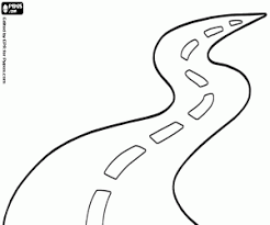 Stylish Design Road Coloring Page A Two Lanes With Curves Trip On Motorcycle