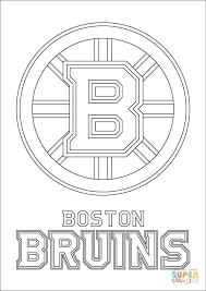 Boston Bruins Logo Nhl Hockey Sport Coloring Pages Printable And Book To Print For Free Find More Online Kids Adults Of