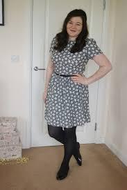 60s flat floral dress
