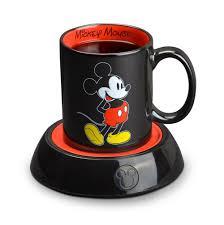 Mickey Mouse Bathroom Set Amazon by Amazon Com Disney Mickey Mouse Mug Warmer Black Red Beverage