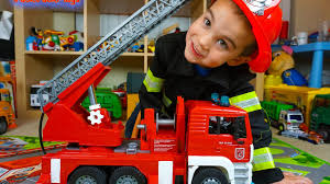 100 Fire Trucks For Toddlers For Children Bruder Toys Engine Toy UNBOXING Kid