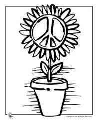 Find This Pin And More On KIDS COLORING GROOVY Peace Flower Coloring Page