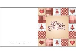 Click To See Printable Version Of Merry Christmas Card Template Paper Craft