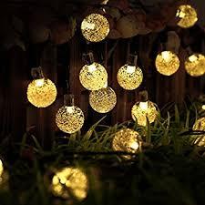 icicle solar christmas lights 20ft 30 led solar powered fairy