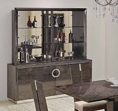 Octavia Italian Modern Dining Room Furniture Glossy Finish Chairs Buffet With Hutch