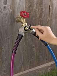 Decorative Brass Hose Bibs by Push Button Tap Adapters Hose Faucet Adapter Arthritis Friendly