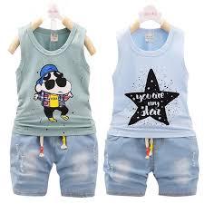 Baby Boy Summer Clothes Set Boutique Little Girls Sets Children Clothing Cotton Tracksuit Kids Suits Sleeveless