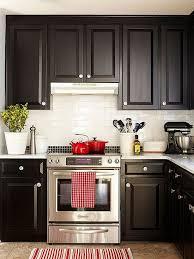 Kitchen Backsplash Ideas With Dark Wood Cabinets by Best 25 Dark Cabinets White Backsplash Ideas On Pinterest