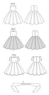 Butterick 5705 Childrens Girls Dress And Cummerbund