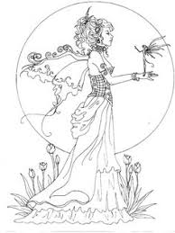 Mythical Mystical Legend Elf Fairy Fae Wings Fantasy Elves Faries Sprite Nymph Pixie Faeries Hadas Enchantment Forest Whimsical Adult Coloring Pages