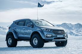 100 Souped Up Trucks Hyundai Santa Fe Drives Across Antarctica Hyundai