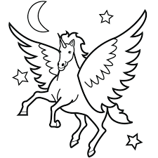 Unicorn With Wings Coloring Pages And Kids Colouring
